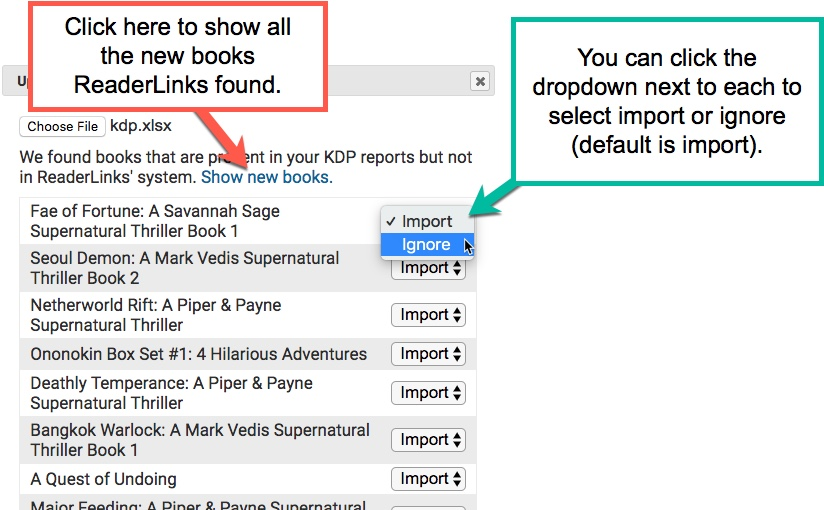 ReaderLinks Help - Home Page - The Author Helper